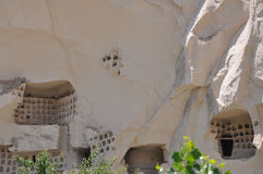 Carved Pigeon Lofts, Red Rose Valley, Goreme, Cappadocia, Turkey Royalty Free Stock Images