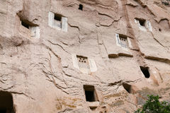 Pigeon Lofts in Zelve Valley, Cappadocia Stock Photo