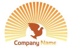 Pigeon logo Royalty Free Stock Image