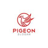 Pigeon Logo Template Photographie stock libre de droits