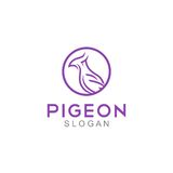 Pigeon Logo Template Images stock