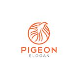 Pigeon Logo Template illustration de vecteur