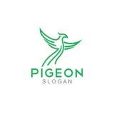 Pigeon Logo Template Image stock