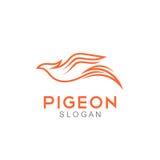 Pigeon Logo Template Photos stock