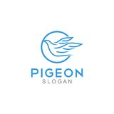 Pigeon Logo Template Royalty Free Stock Images