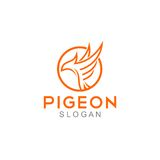 Pigeon Logo Template Stock Photo