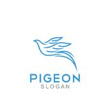 Pigeon Logo Template Royalty Free Stock Photos