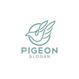 Pigeon Logo Template Stock Images