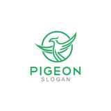 Pigeon Logo Template Royalty Free Stock Image