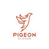 Pigeon Logo Template Royalty Free Stock Photography