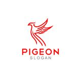 Pigeon Logo Template Royalty Free Stock Photo