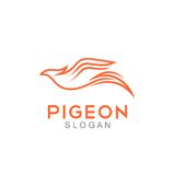 Pigeon Logo Template Stock Photos