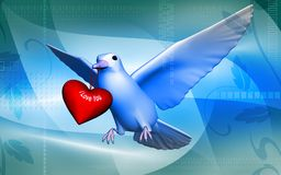 Pigeon with love Royalty Free Stock Photos