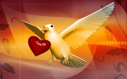 Pigeon with love Stock Photography