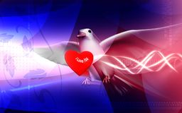 Pigeon with love Royalty Free Stock Photography