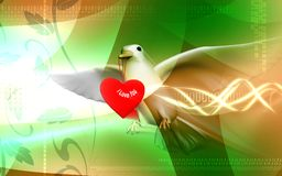 Pigeon with love Royalty Free Stock Images