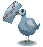 Pigeon with Mail, Vector Illustration. Stock Photos