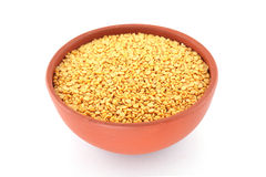 Pigeon pea in a bowl Stock Photo