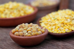 Pigeon pea with other pulses Royalty Free Stock Photos