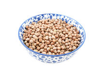 Pigeon peas in a china bowl Stock Image
