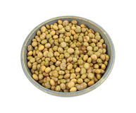 Pigeon peas in old bowl Stock Images