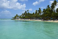 Pigeon Point Beach in Tobago, Caribbean Stock Photos