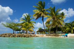 Pigeon Point Beach, Tobago Royalty Free Stock Photos