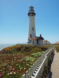 Pigeon Point Lighthouse. View of Pigeon Point Lighthouse near Half Moon Bay, California stock images
