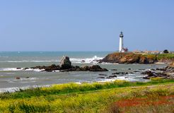 Pigeon Point Lighthouse. Located Along The Central California Coast Stock Image
