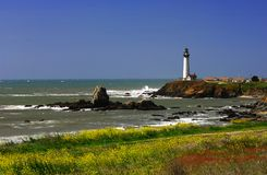 Pigeon Point Lighthouse. Located Along The Central California Coast Royalty Free Stock Images