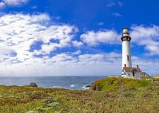 Free Pigeon Point Lighthouse At Highway No 1 In California Royalty Free Stock Image - 151531756