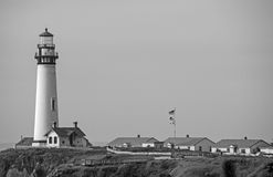 Pigeon Point Lighthouse in BW 1 Royalty Free Stock Images