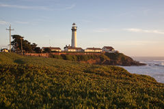 Pigeon Point Lighthouse in California Royalty Free Stock Image