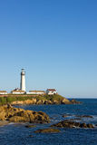 Pigeon Point Lighthouse on California Coast Stock Images
