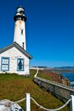 Pigeon Point Lighthouse. In Central California, USA Stock Image