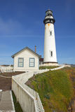 The Pigeon Point lighthouse on the central coast of California Stock Images