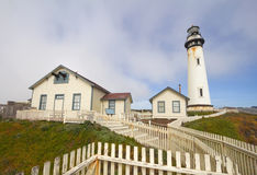 The Pigeon Point lighthouse on the central coast of California Stock Photo