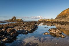 The Pigeon Point Lighthouse by day stock photography