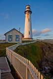 Pigeon Point Lighthouse, Pacific Ocean, California. 115-foot Pigeon Point Lighthouse, one of the tallest lighthouses in America, has been guiding mariners since Royalty Free Stock Images