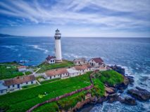 Pigeon point Lighthouse, Pfcefec Ocean Royalty Free Stock Photo