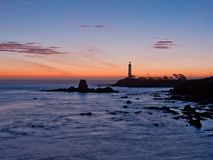 Pigeon Point Lighthouse Sunset Stock Photography