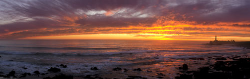 Pigeon Point Lighthouse Sunset Stock Photo