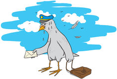 Pigeon post Stock Photos