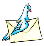 Pigeon post mail Stock Photos