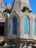 Pigeon resting in sunny day. Pigeons are resting on monument. Sunny day. Well wishes. Rhodos Royalty Free Stock Images