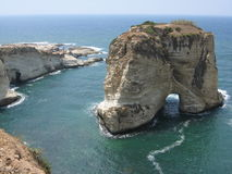 Pigeon rocks. In Lebanon, Beirut stock photo