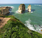 Pigeon Rocks, Beirut, Lebanon Royalty Free Stock Photos