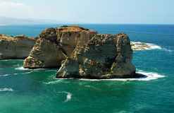 Pigeon Rocks,Beirut Lebanon Royalty Free Stock Photography