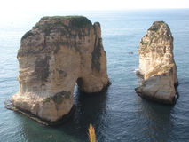 Pigeon Rocks (Rocks of Raouché), Beirut, Lebanon Royalty Free Stock Photography