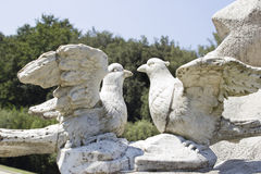 Pigeon statue. In the caserta park Royalty Free Stock Images